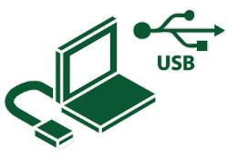 Interface de connexion USB 2.0 PC (Win 2000/XP/Vista ou Mac OS 9/10.3/10.4)